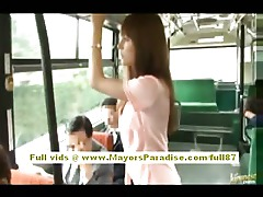 Tits Teen Really Pussy Outdoor Natural Hairy Cute Bus