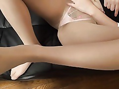 Asian Fetish Foot Fetish Japanese Nylon Pantyhose POV Tease