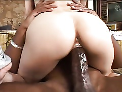 Dick Chick Brunette Black Asian Interracial