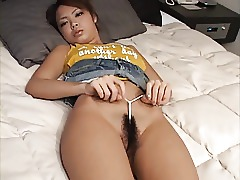 Japanese Teen Tease Hairy Bikini Asian