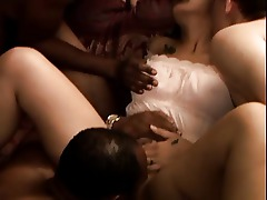 Creampie Gangbang Group Sex Interracial