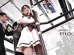 Bus Japanese Lingerie Office Old and Young Skirt