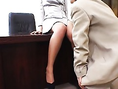 Asian Blowjob Couple Fetish Foot Fetish Footjob Japanese Nylon Office