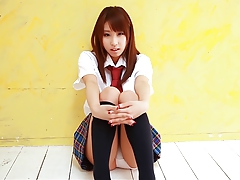 Asian Classroom College Gorgeous Japanese Schoolgirl Skirt Tease Teen