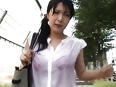 Wet Public MILF Japanese Fingering Bus Asian