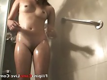 Asian Exotic Filipina Nude Pussy Shower