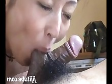 Swallow MILF Japanese Hairy Asian