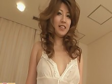 Lingerie Japanese Hairy Asian Tease MILF Masturbation