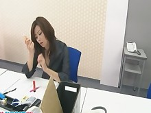 Toys Stockings Pussy Office MILF Masturbation Japanese Asian