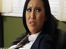 Asian Blowjob Brunette Interracial Office Uniform