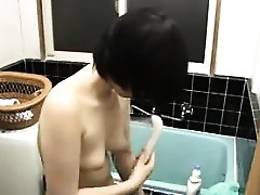 Asian Chick Cute Japanese Shower Solo